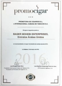 Promocigar certificate (s)